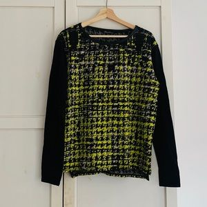 Kenneth Cole NY yellow & black pattern long sleeve